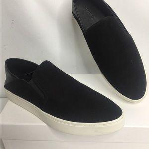 Vince Garvey US 8 women's black leather/suede new